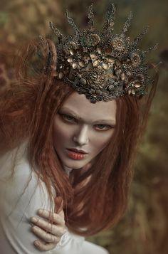 Photographer: Agnieszka Lorek – A.M.Lorek Photography Headpiece: Hysteria Machine Model: Gingerface Model