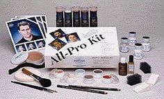 400 (Dark) All-Pro Kit CreamBlend Stick Make Up Kit. These are the 'All-Pro' theatrical makeup kits from Mehron line. Each kit has enough product for a typical season at School. StarBlend's unique formula provides true colors with effortless application and easy blending for shadows, highlights and special effects. It is also non-streaking and perspiration-resistant.