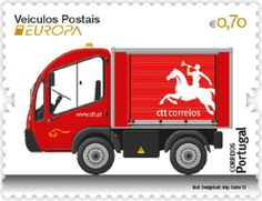 "europa stamps: Portugal 2013 - Europa 2013 ""The postman van""  celebrating PostEuropa's 20th anniversary - 1993-2013"