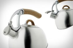 The OXO Anniversary Edition Uplift Tea Kettle has a cork handle! CORK!