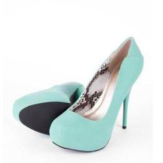 Minty shoes.