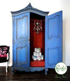 Inspiration | Blue armoire by Ildiko Horvath | Annie Sloan