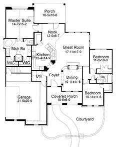 European Plan: 1,780 Square Feet, 3 Bedrooms, 2 Bathrooms - 9401-00023