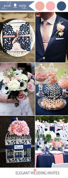 popular navy and pink wedding color ideas wedding fun fun fun