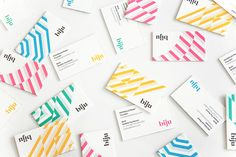 Logotype and business cards by ico for British bubble tea brand Biju