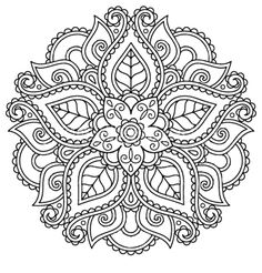 simplified floral from stockart