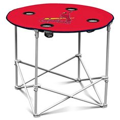 MLB St Louis Cardinals Round Tailgating Table -- For more information, visit image link.