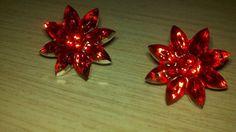 Poinsettia Hypoallergenic Earrings by Shelithas on Etsy, $5.99