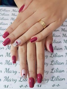 Uñas Gorgeous Nails, Pretty Nails, Super Nails, Hot Nails, Accent Nails, Cool Nail Designs, Nail Arts, Manicure And Pedicure, Beauty And The Beast