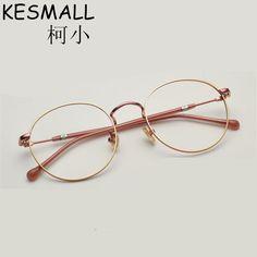 R  75.42  2018 Luz Óptica Óculos de Armação De Metal Mulheres Homens Moda  Miopia Óculos Frames Oculos de grau Femininos Do Vintage Óculos YJ784 em  Armações ... abf173f0f0