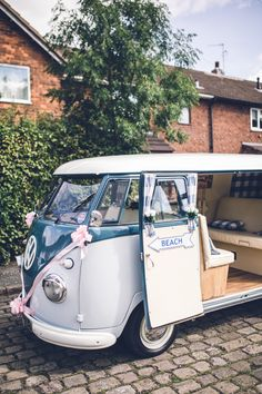 VW Campervan Transport Retro 1950s Vintage Wedding http://amyfaithphotography.com/