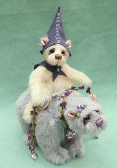 Merlin & Mystic  Artist Bears and Handmade Bears from Pipkins miniature artist bears