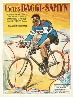 Product Description NAME: Cycles Baggi-Samyn ARTIST: Faria CIRCA: 1923 ORIGIN: France Fine art giclee print on heavy acid free archival paper using 100+ year fade resistant inks. POSTER SIZING: The th