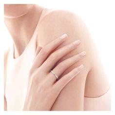 Tiffany Harmony Platinring mit Diamanten in Bead-Fassung.   Tiffany & Co.