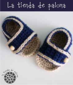 Crochet baby sandals - Baby sandals - Baby boy sandals. $18.00, via Etsy.