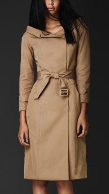 Portrait Neckline Trench Coat, Burberry