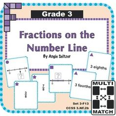 Easy-to-Print Popular Math Game Cards Make Learning FUN! - Win my most popular set of game cards and see other sets on SALE today. Print any set with just 5 sheets of paper. It's easy to help students connect numbers, expressions, and models. Please FOLLOW my shop to be notified of new products! ~Angie.  A GIVEAWAY promotion for Multi-Match Game Cards 3F: Fractions on the Number Line from K-8 MathPaths on TeachersNotebook.com (ends on 6-21-2015)