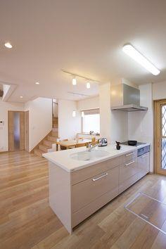 モデルハウスのキッチン。たっぷり収納できます。#宇都宮#自由設計#新築#間取り#キッチン#収納