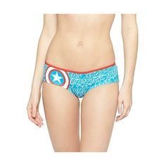 Women's Captain America Hipster - , Blue ($5.99) ❤ liked on Polyvore featuring intimates, panties and blue