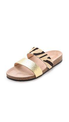 Paz Two Band Haircalf Sandals
