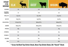 Bison, Grass-Fed Beef & Elk Meats: A Comparison of 3 Lean Proteins - The Bison Life Bison Meat, Deer Meat, Bison Recipes, Steak Cuts, Organic Beef, Healthy Meats, Grass Fed Beef, Lean Protein, Venison