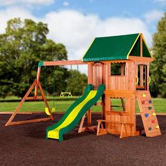 Get the party started with the Somerset Play Centre. The swing set can host up to three daredevils with two belt swings and a trapeze. Play Now, Pay Later with #Afterpay #humm #zip and #Laybuy.  #kids #Play #toys #Swing #slides #CLIMB  Shop Here: