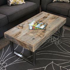 Reclaimed Wood Coffee Table Steel Legs Free Shipping Jw Atlas Co