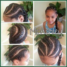 Goddess braids/french braids