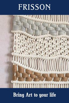 Hand-woven Macrame Colour Block Tapestry Wall Hanging. Woven Wall Hanging, Hanging Art, Tapestry Wall Hanging, Wall Hangings, Weaving Textiles, Weaving Art, Hand Weaving, Diy Crafts To Do, Decor Crafts