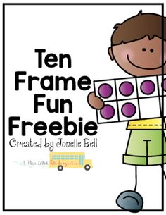 Ten Frame Fun activities including Ten Frame Memory, Match the Ten Frame and Fill the Ten Frame. Fun free ten frame activities for Kindergarten. Numbers Kindergarten, Math Numbers, Preschool Math, Fun Math, Teaching Math, Kindergarten Classroom, Kindergarten Freebies, Teen Numbers, Numbers Preschool