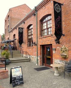 Canoe Brew Pub - located in a heritage building in Victoria, BC, used to be The City Lights Building, powering the city's street lamps. Brews their own amazing beer, local food, and a marina... --- I used to work here, it's great!