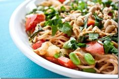 Noodle Salad with Peanut Mmmm Sauce: The crisp red pepper and bok choy, the nutty edamame and the crunchy peanuts give the dish a great texture, and the sauce…the sauce I want to drink.