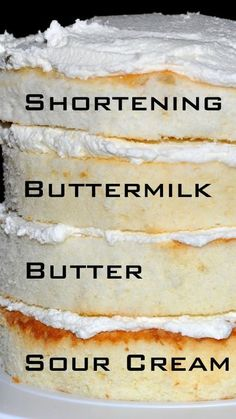White cake recipes from scratch with links to the recipes ~ cake with shortening, buttermilk, butter and sour cream. cake White cake recipes from scratch with links to the recipes ~ cake with shortening, buttermilk, butter and sour cream. Köstliche Desserts, Dessert Recipes, Health Desserts, Birthday Desserts, Health Foods, White Cake Recipes, Wedding Cake Recipes, Birthday Cake, Brownie Recipes