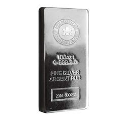 100 oz Royal Canadian Mint (RCM) .9999 Fine Silver Bar