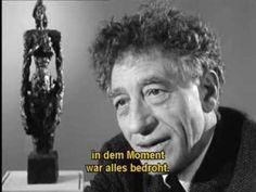 Alberto Giacometti - Ein Mensch unter Menschen (1963, franz./deutsch) - YouTube
