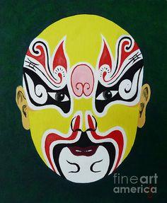 Title: Dian Wei - Chinese Opera Mask  Artist: Birgit Moldenhauer