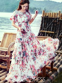 # Floral Print Gowns, Floral Prints, Gipsy Fashion, Floral Fashion, Sexy Dresses, Fashion Dresses, Flatlay Styling, Hair Pieces, Dress Skirt