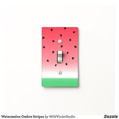 Watermelon Ombre Stripes Light Switch Cover at Zazzle. More Cover Styles Available. Light Switch Art, Light Switch Plates, Painted Bedroom Doors, Painted Doors, Cute Room Ideas, Cute Room Decor, Cute Paintings, Simple Acrylic Paintings, Small Canvas Art