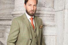 Anzug aus Glen Hunt Tweed mit Weste