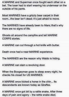 For my Marine friends out there Marine Jokes, Marine Corps Memes, Us Marine Corps, Usmc Humor, Military Jokes, Army Memes, Military Life, Military History, Marines Funny