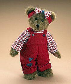 "Boyds Bears ""JORDAN"" 14"" Homespun Plush Bear  #904733 -NWT-2008- Retired"