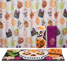 Celebrate+Halloween+Together+Shower+Curtain+Collection