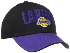 NBA Los Angeles Lakers Team Name with Logo Structured Adjustable Cap, Black, One Size Fits All, Price: $13.00 http://astore.amazon.com/nbacaps-20/detail/B00CPYDCDQ
