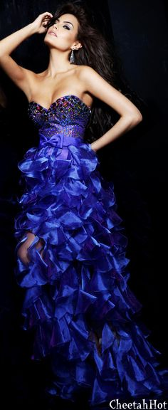 Sherri Hill - Authentic Designer Strapless Purple Dress...  (sorry this dress is blue on my new laptop) Not purple