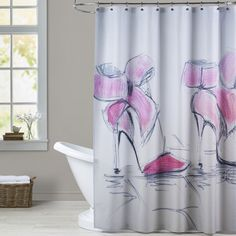 Features:  -Artwork shower curtains.  -100% Original designs.  -12 Holes.  -Made in the USA.  Country of Manufacture: -United States.  Material: -Polyester.  Pattern: -Graphic Print & Text.  Product T