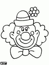 Afbeeldingsresultaat voor clown gezicht kleurplaat