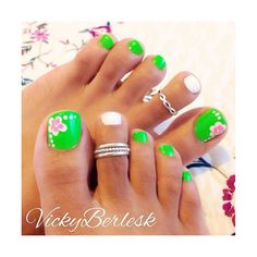 10+ Spring Toe Nail Art Designs, Ideas, Trends Stickers 2015 found on Polyvore