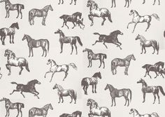 Collette Wallpaper by Sandberg. A cute & stylish wallpaper with a horse pattern. Colour: Black Pattern repeat: 64 cm Type of match: Drop Length of roll: x Motifs Textiles, Textile Patterns, Horse Wallpaper, Pattern Wallpaper, Kids Wallpaper, Horse Pattern, Pattern Art, Kids Patterns, Print Patterns