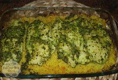 שכבות חזה עוף בפסטו בתנור עם אורז Quiche, Zucchini, Vegetables, Breakfast, Ideas, Food, Meals, Summer Squash, Meal