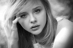 black and white picture of chloe moretz - Google Search